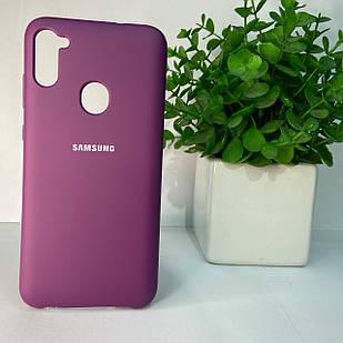 Чехол Samsung A11 A115 M11 M115 фиолетовый