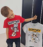 Стильные детские футболки для мальчика Sunday Glo-story). Венгрия.  134-164 размер., фото 1