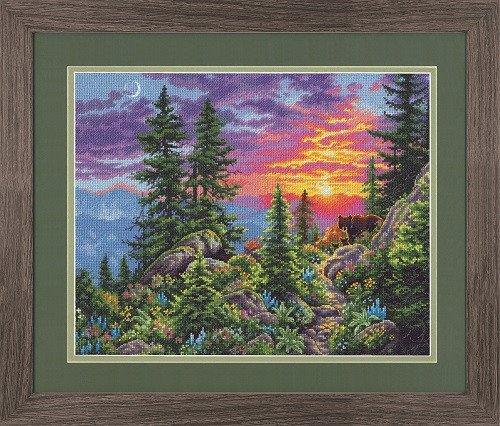 Набор для вышивания Dimensions Sunset Mountain Trail (70-35383)