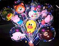Светящиеся шары в комплекте с батарейками. Светящиеся шарики с диодами и шаром Микки Маус внутри РАСПРОДАЖА