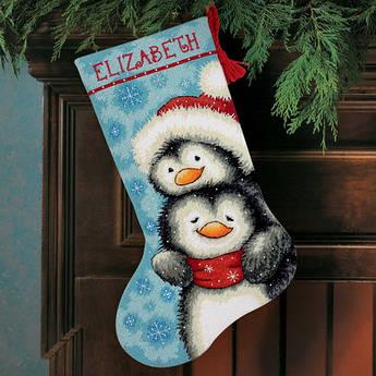 Набор для вышивания Dimensions Hugging Penguins Stocking (71-09144)