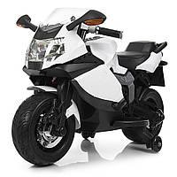 Детский мотоцикл BMW с кожаным сиденьем M 3636EL-1 белый РАСПРОДАЖА!, фото 1