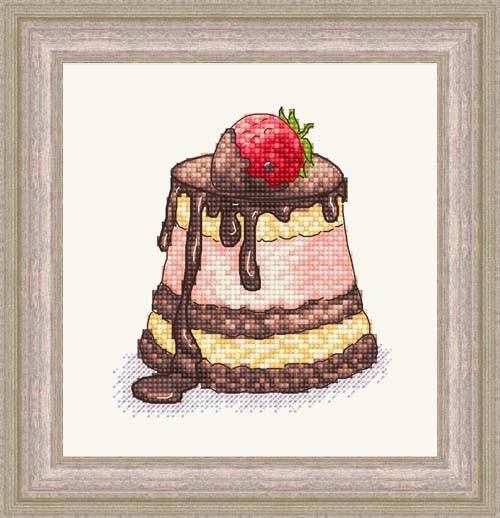 Набір для вишивання Зроблено з любов'ю Полуниця в шоколаді (ВІ-010)