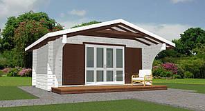 Будинок з профільованого бруса 5.4x3.2 м. Кредитування будівництва дерев'яних будинків