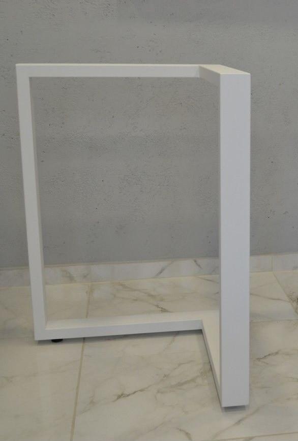 Опора для стола N45 ножка металлические с доставкой Белая