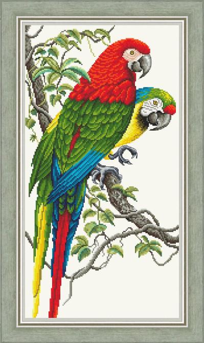 Набор для вышивания Сделано с любовью Попугаи Ара (Ж-010)