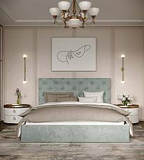 Кровать Велюр с подъемным механизмом 140х200 ТМ Viorina Deko, фото 3