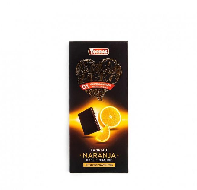 Шоколад черный Torras с апельсином без сахара 125 г