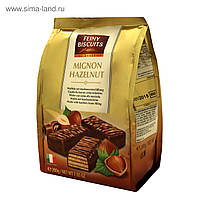 Вафли Feiny Biscuits Mignon hazelnut с шоколадным кремом из лесного ореха 200 г