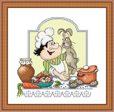 Набір для вишивання Зроблено з любов'ю Заєць з грибами (КТ-26)