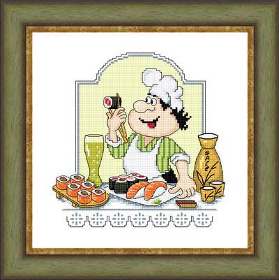Набор для вышивания Сделано с любовью Япона суши (КТ-39)