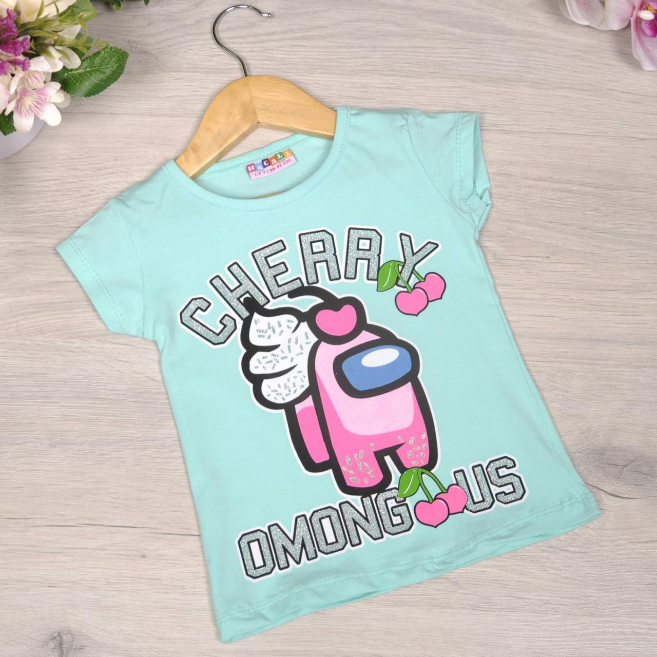 Детская футболка, трикотаж, для девочки 1-8 лет (4 ед. в уп)