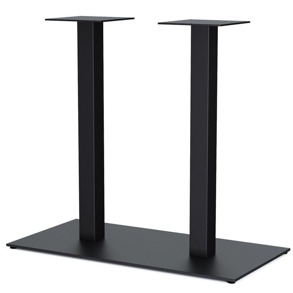 """Чорні металеві опори """"DUO"""" для столу ніжки для столу в кафе"""