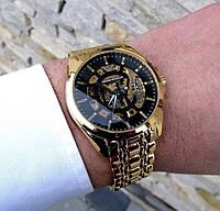 Часы мужские Armani золотые механика