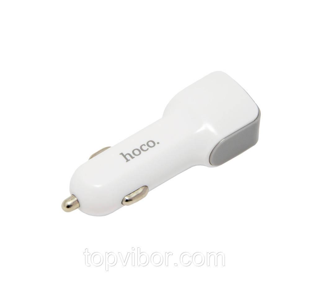 Автомобільний зарядний пристрій для телефону  Hoco Z23 2 USB, зарядний в прикурювач | автомобильный адаптер