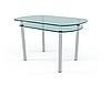 Стол кухонный КТ-03 прямоугольный стеклянный / JAM (ДЖЕМ)