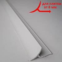 Угол внутренний пластиковый универсальный для плитки, длина 2,5 м Белый, фото 1