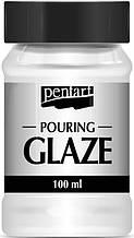 """Фінішний лак """"Pouring glaze"""", Прозорий, 100 мл, Pentart"""