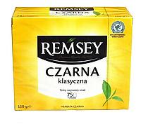 Чай чорний класичний Remsey Czarna Klasyczna tea 1 уп / 75 пакетів / 150 г, фото 1