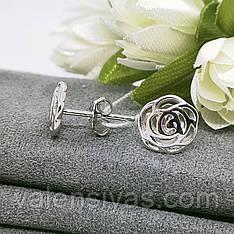 Серьги гвоздики Розы