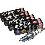 Свеча зажигания BRISK  SILVER (длинная юбка; газ) ГАЗ  (к-кт 4 шт) (пр-во Чехия)     BR LR17YS.4K, фото 2