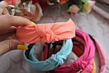 Ободок Чалма основа пластик/текстиль, фото 6