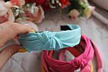 Ободок Чалма основа пластик/текстиль, фото 5