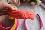 Ободок Чалма основа пластик/текстиль, фото 3