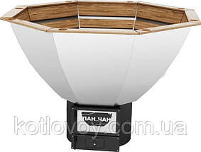Дровяной чан для бани Пан Чан Premium малый Ø 185, с топкой, обшивка дуб, фото 3