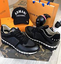 Кроссовки мужские Valentino D8556 черные размер 41 РАСПРОДАЖА