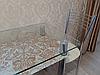 Стол кухонный КТ-01 прямоугольный стеклянный / JAM ( ДЖЕМ)