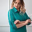 Повседневное платье женское большого размера   48-58 бирюзовый, фото 5