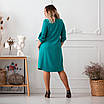 Повседневное платье женское большого размера   48-58 бирюзовый, фото 6