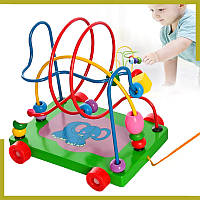 """Деревянная игрушка детская лабиринт """"Слоненок"""" - Развивающие и обучающие игрушки Монтессори"""