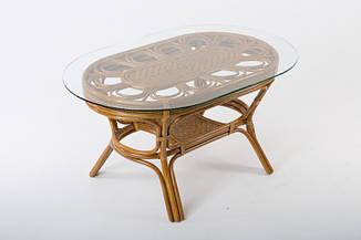 Обеденный стол Аскания CRUZO натуральный ротанг, королевский дуб