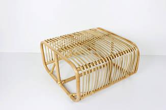 Кофейный столик Амелия CRUZO натуральный ротанг, медовый
