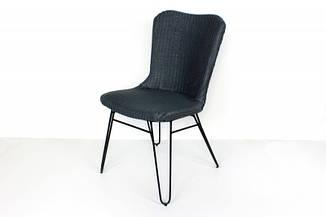 Плетеный стул Бонни CRUZO ротанг + лум серый