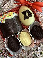 Шоколадный пасхальный набор. Пасхальные подарки. Подарки на Пасху. Шоколадный кулич.