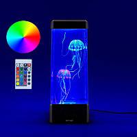 Детская настольная лампа-ночник со светодиодными медузами с пультом