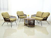 Плетеный комплект мебели Латте Сет CRUZO натуральный ротанг, коричневый