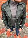 Мужская кожаная куртка-косуха, фото 2