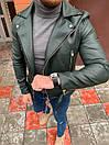 Мужская кожаная куртка-косуха, фото 4