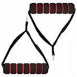 Набор трубчатых эспандеров эластичных 5 шт SPRINGOS Для йоги и пилатеса Длина 128 см Латекс (FA0124), фото 3