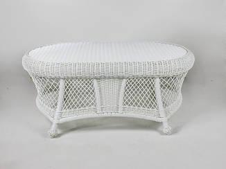 Кофейный столик Сопрано CRUZO искусственный ротанг белый