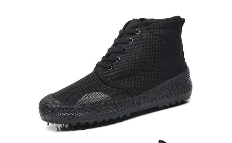 Высокие мужские кроссовки на толстой подошве, черный
