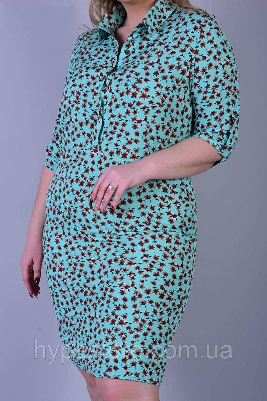 Красивое женское легкое платье в цветочный принт, см.замеры в ПОЛНОМ описании товара!