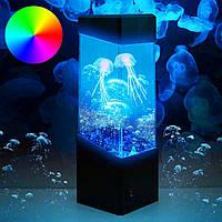 Детская настольная лампа-ночник со светодиодными медузами
