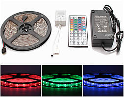 RGB светодиодная лента влагозащищенная комплект (набор) RGB LED strip 5050 SMD