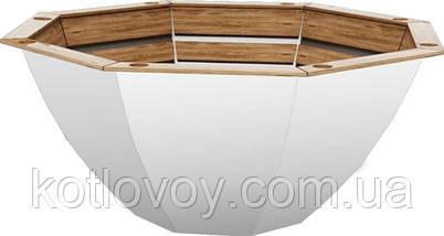 Дровяной чан для бани Пан Чан Budget малый Ø 185, без топки, обшивка дуб, фото 2