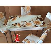 Обеденная группа комплект мебели для кухни стол и стулья Sabrow, кухонные обеденные комплекты, каленное стекло